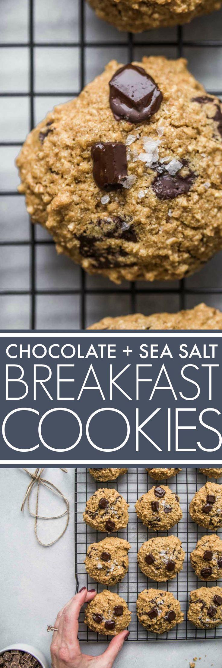 Chocolate + Sea Salt Breakfast Cookies