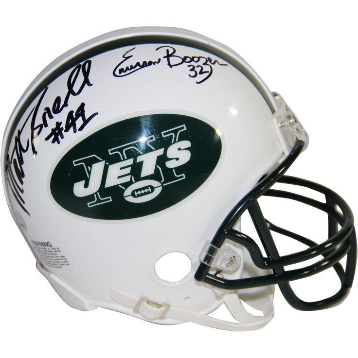 Emerson Boozer Matt Snell Dual Signed New York Jets Mini Helmet