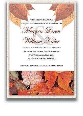 140 Rectangular Wedding Invitations - Autumn Cloud by WeddingPaperMasters.com. $366.80. Now you can have it all! We have created, at incredible prices & outstanding quality, more than 300 gorgeous collections consisting of over 6000 beautiful pieces that are perfectly coordinated together to capture your vision without compromise. No more mixing and matching or having to compromise your look. We can provide you with one piece or an entire collection in a one stop shopping e...
