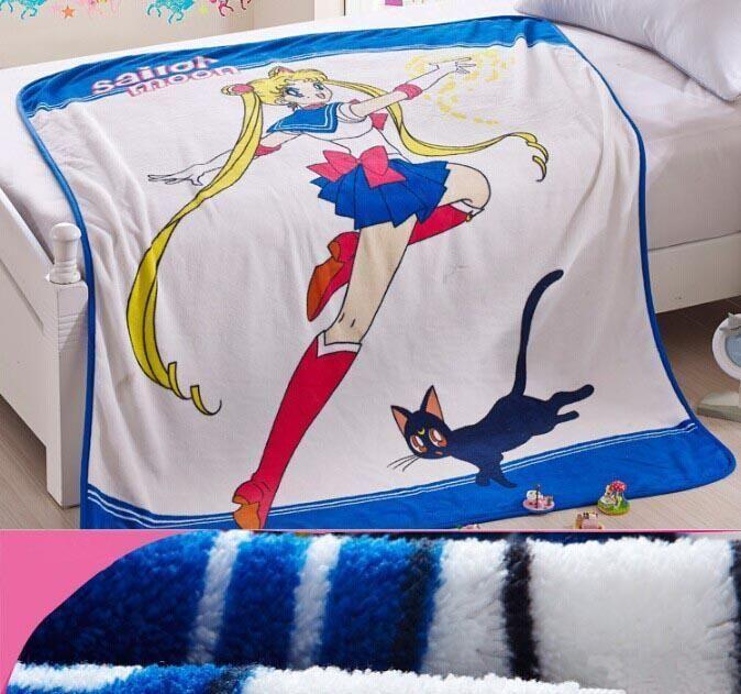 Pretty Soldier Sailor Moon Anime Blanket 150cm x 120cm