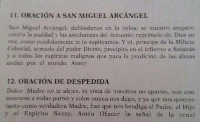 Oración a San Miguel Arcángel y oración de despedida