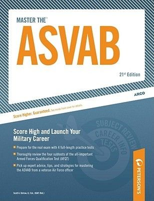 Master the ASVAB: Armed Services Vocational Aptitude Battery. By Scott Ostrow. Call # TEST 355.54 O