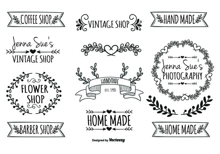 Here is an awesome and totally editable set of hand drawn style labels that I am…