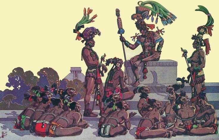 Antiguos Mayas. Ilustraciones de Herbert M. Herget