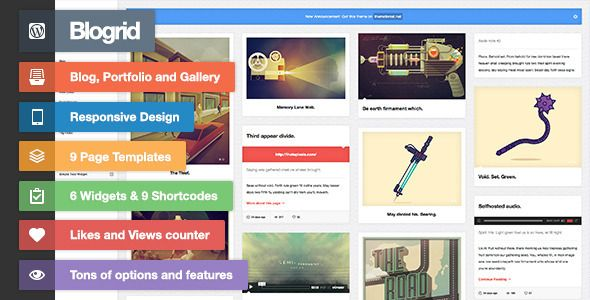 Blogrid - Grid-Based WordPress theme