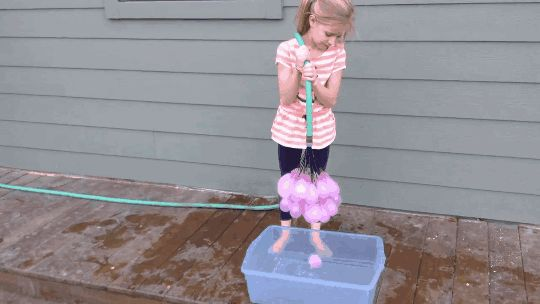 Josh Malone, along with his kids, came up with a much faster way to replace the time-consuming process of creating water balloons.