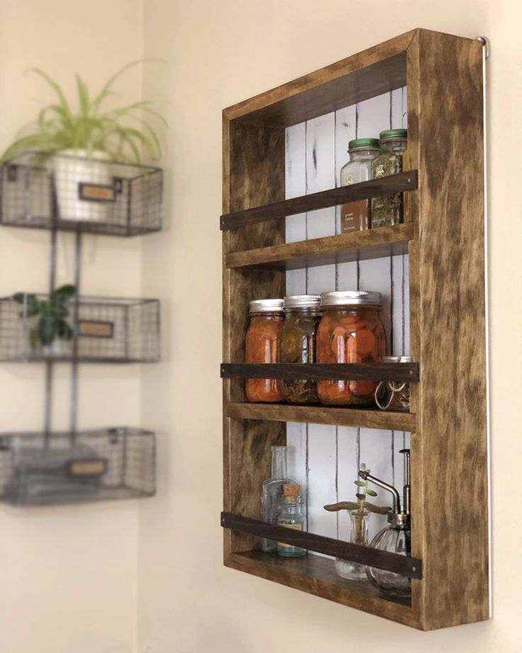 Wall Mount Spice Rack Plans: Wall Mounted Or Countertop