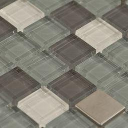 Aruba Mosaic Glass & Metal Tile 8mm - up close