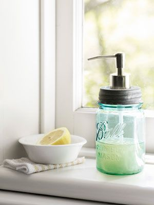 They are not just for canning anymore!Mason Jars Soaps, Ball Jars, Soaps Dispeners, Soap Dispenser, Masons, Crafts Ideas, Canning Jars, Soaps Provide, Crafts Projects