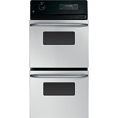 "GE GE Appliances JRP28SKSS 24"" Double Wall Oven w/ Self Clean Upper Oven"
