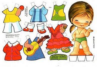 Dicas da Tia Maira: Bonecas de papel para vestir