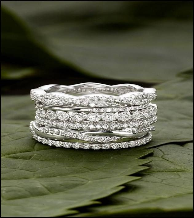 Mismatched Stacked Wedding Bands