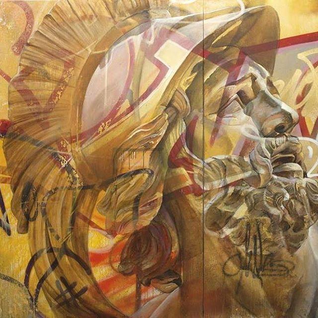 Best Street Art Images On Pinterest Street Artists Street - Beautiful giant murals greek gods pichi avo