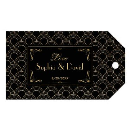 #gold - #Great Gatsby Vintage 1920s Art Deco Wedding Gift Tags