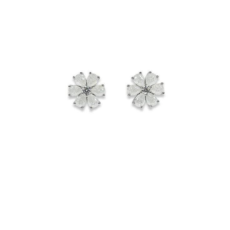 Daisy earring popping white/RH
