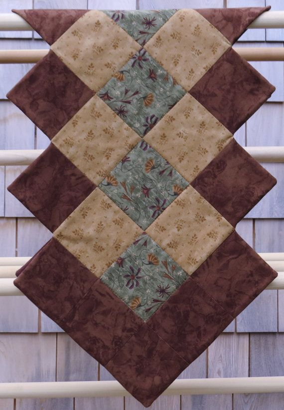 Brown and Green Table Runner.....Country by MyLittleCountryCabin, $30.00