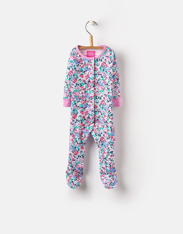 Razamataz Kitty Ditsy Printed Babygrow  | Joules UK