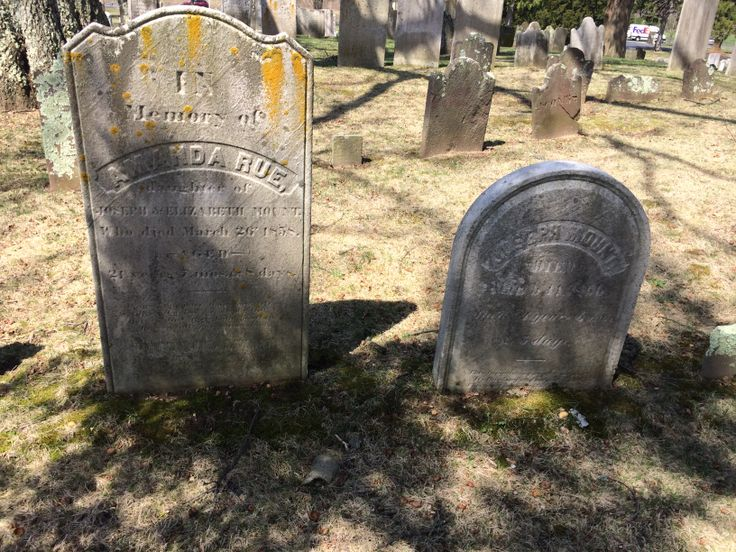 Headstones in Old Tennent Cemetery, Manalappan, NJ