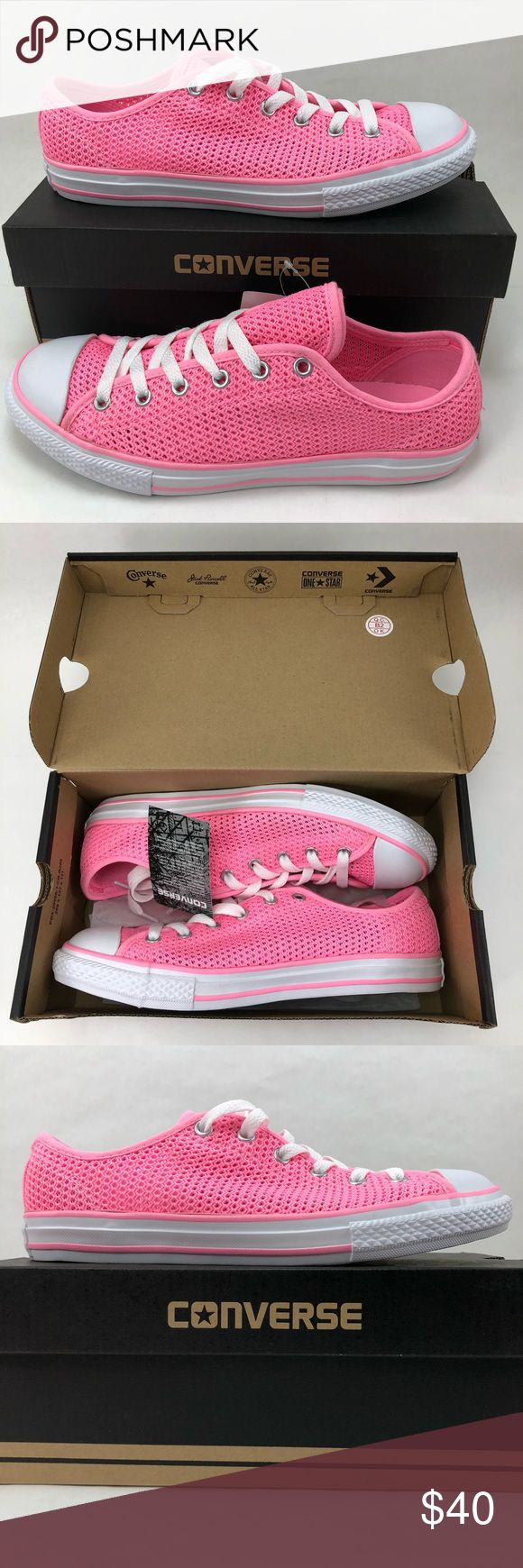 Chuck Taylor All Star Mesh girls Youth shoes 6 NEW Hot pink juniors big kids size 6 shoes. These shoes translate to a women's size 7.5. Please be sure of your sizing in chuck Taylor all star shoes. These RARE shoes have a double tongue and mesh upper body. Converse Shoes Sneakers