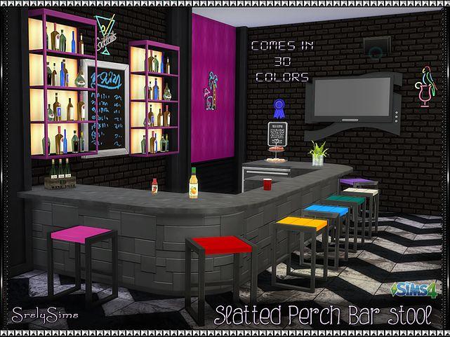 SrslySims | Slatted Perch Bar Stool