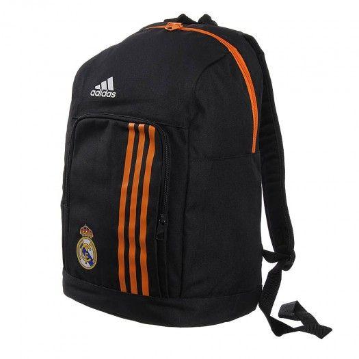 La mochila Real Madrid de Adidas incorpora un gran compartimento principal con cremallera, cómodos bolsillos frontales con cremallera, tirantes para el hombro ajustables y un asa de transporte en la parte superior.