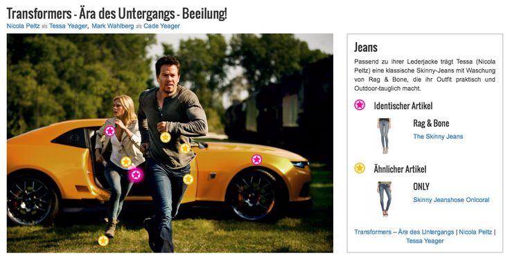 Passend zu ihrer Lederjacke trägt Tessa (Nicola Peltz) eine klassische Skinny-Jeans mit Waschung von Rag