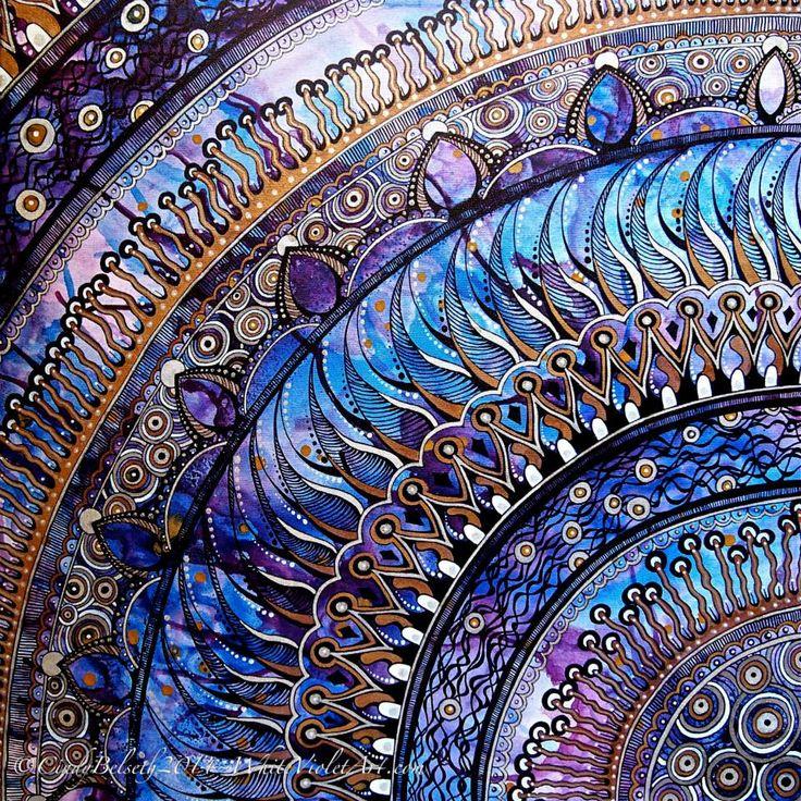 Travel Journal-Art Diary-Eclectic Dersign Book| Serafini Amelia| Violet Mandala by White Violet Art