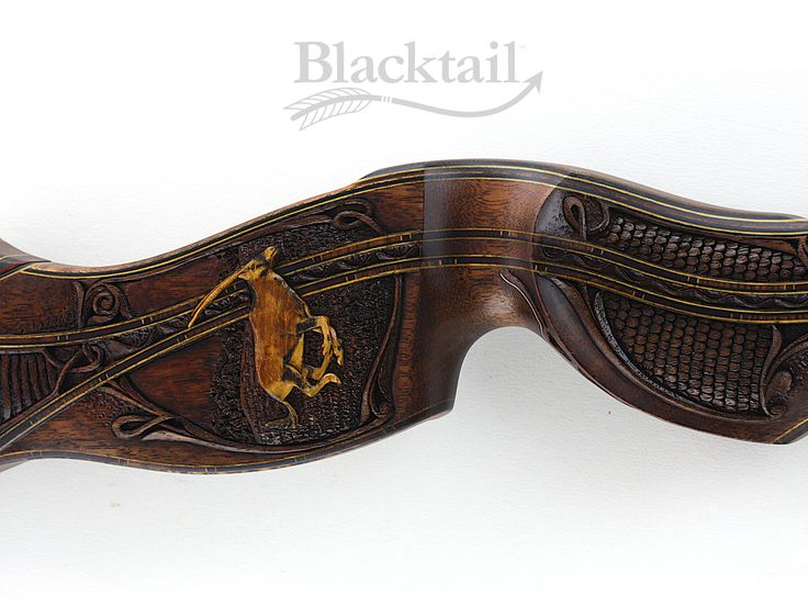 Blacktail Bows makes custom handcrafted, traditional archery recurve bows. Known worldwide for fine heirloom craftsmanship, hand-carved, hand-engraved bows, Blacktail Bows are recognized by many as the benchmark of premium traditional bows.