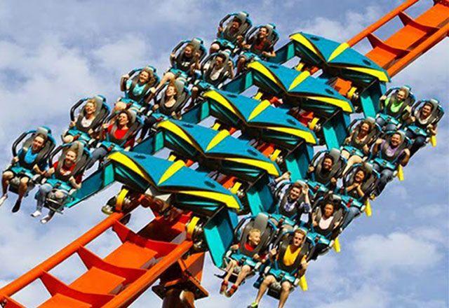 world's scariest roller coasters Thunderbird, Holiday World and Splashin' Safari, Santa Claus, Indiana