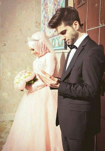 Muslim bride and groom