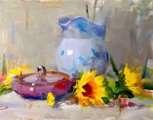 Original artwork from artist Qiang Huang on the Daily Painters Gallery