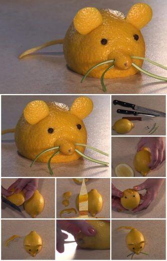 How To Make Fruit Animal Carving | UsefulDIY.com                                                                                                                                                     More