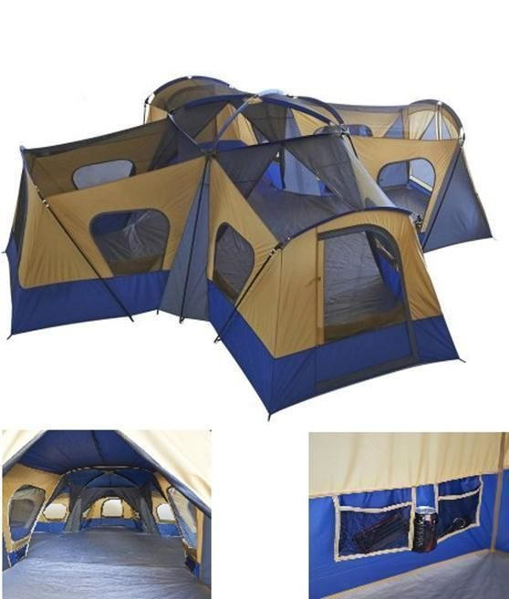 Camping Instant Tent 14 Person 20 x 20 Base Camp Family Cabin Canopy Large Blue | Sporting Goods, Outdoor Sports, Camping & Hiking | eBay! #CampingGear