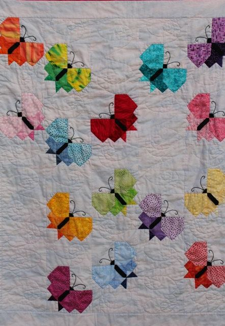 Handmade Hand Quilted Baby or Lap Quilt  with by QuiltRhapsody, $325.00: Baby Newborn, Applies Quilts, Babies, Handmade Baby, Babyquilts, Butterfly Quilts, Baby Quilts, Block Quilts, Dyed Quilts