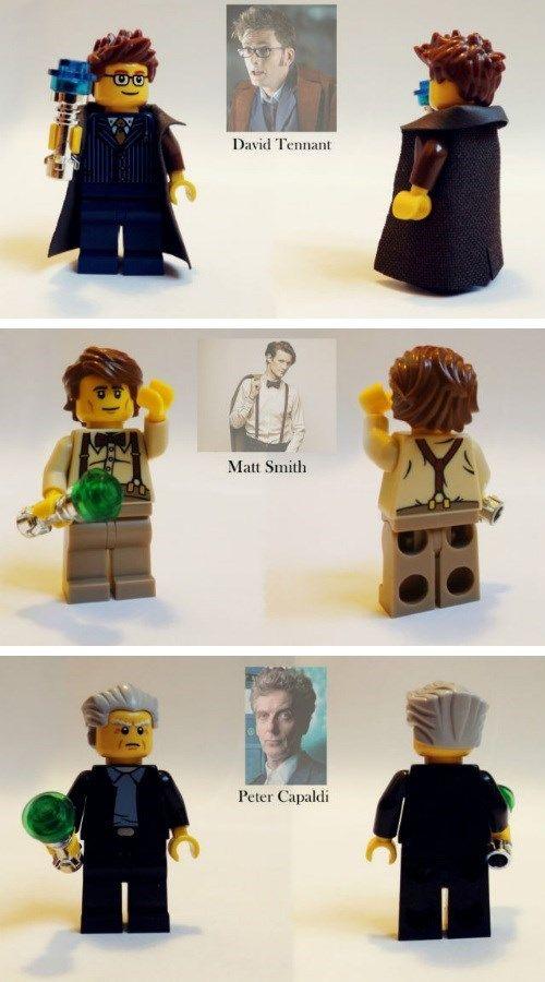 3 x Doctor Who Minifigures