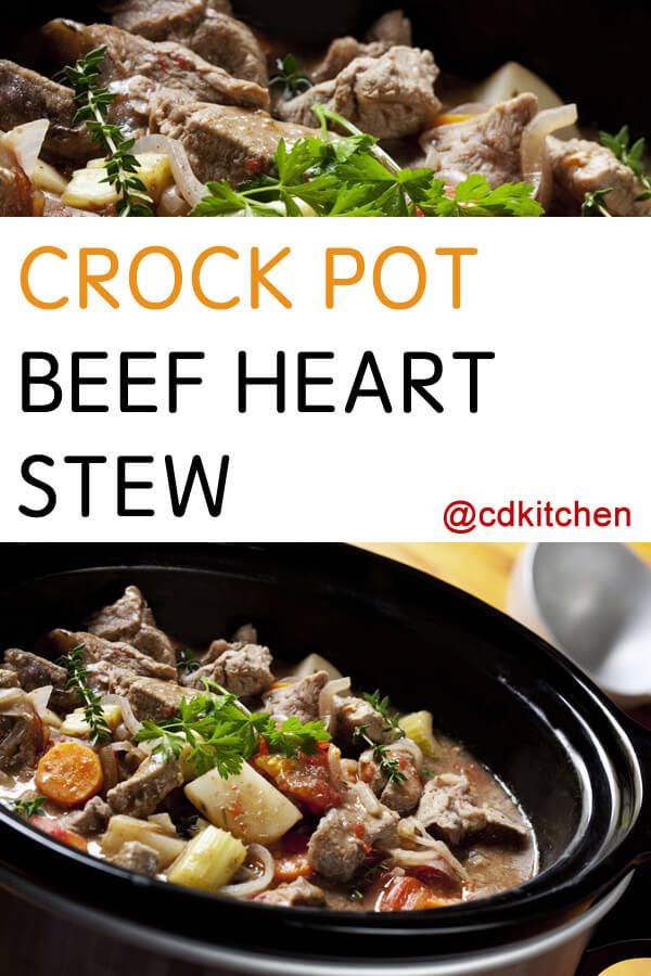 Slow Cooker Beef Heart Stew Don T Be Scared Off By Cooking Beef Heart It S Actually An Incredibly Flavorful How To Cook Beef Offal Recipes Beef Heart Recipe