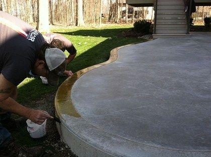 Stained Concrete Patios | Reactive Acid Stain Transforms A Plain Concrete  Patio