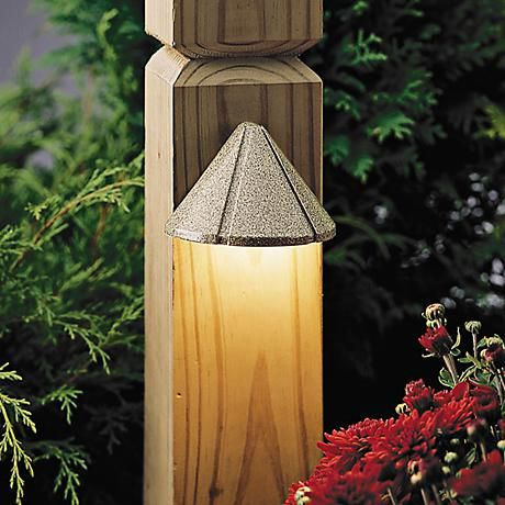 The soft beach finish of this LED mini deck light is perfect for oceanside and coastal style homes.