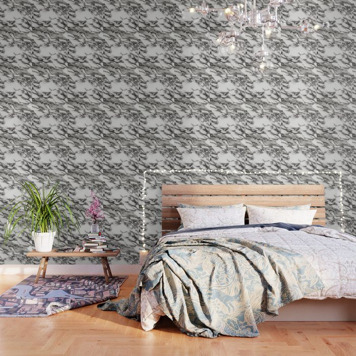 Buy White Black Marble Wallpaper By Newburydesigns Worldwide Shipping Available At Society6 Blue And White Wallpaper White Wallpaper Black And White Wallpaper