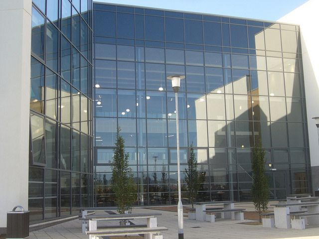 Leeds West Academy  Curtain walling, windows and automatic doors by Duplus Architectural Systems Ltd. Tel 0116 2610 710 or visit www.duplus.co.uk