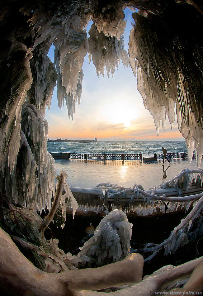 winter in Yalta, Crimea by Sergea Titoy