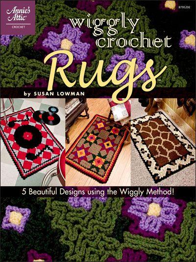 Wiggly Crochet Rugs pattern book $7.95