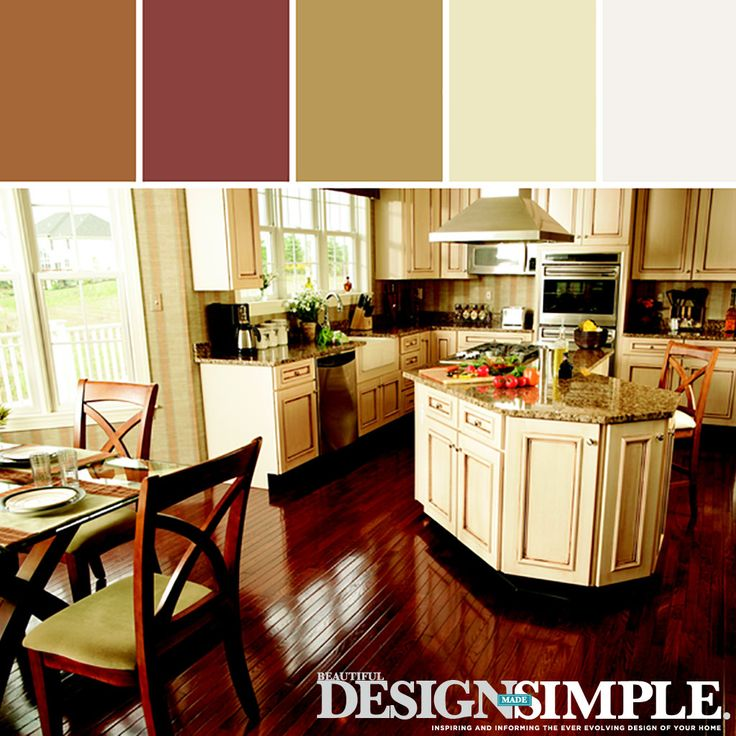 Warm Paint Colors For Kitchens Pictures Ideas From Hgtv: Stylyze-Warm-Kitchen Color Palette