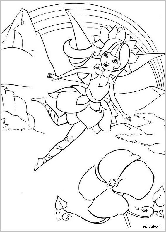 Pin By Desenhos Desenhos On Barbie Coloring Fairy Coloring Pages Coloring Pages Barbie Coloring