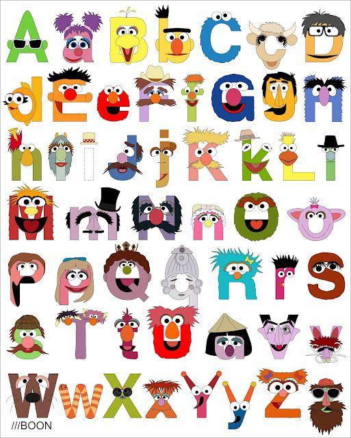 Sesame Street Alphabet by Mike Baboon Design