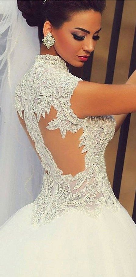 WOW!!! Cute and gorgeous Sparking Beading Bodice Ball Gown Bridal Dress. You'll be THE princess of the day wearing this sublime wedding dress! See at http://www.cutedresses.co/go/Sparking-Beading-Bodice-Ball-Gown-Bridal-Dress