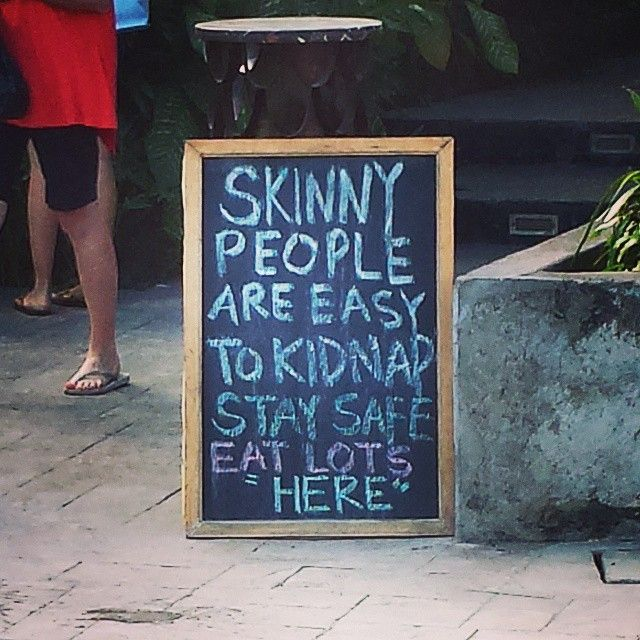 Every business needs a unique selling proposition & this cafe has definitely nailed it.  #usp #bali #cafe #funnysigns #sign