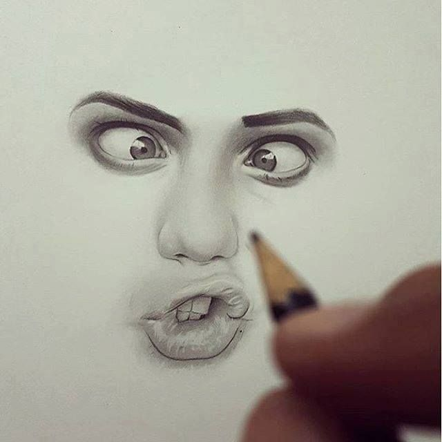 Realistic Face Drawing by Hisham Art http://webneel.com/25-beautiful-color-pencil-drawings-valentina-zou-and-drawing-tips-beginners | Design Inspiration http://webneel.com | Follow us www.pinterest.com/webneel