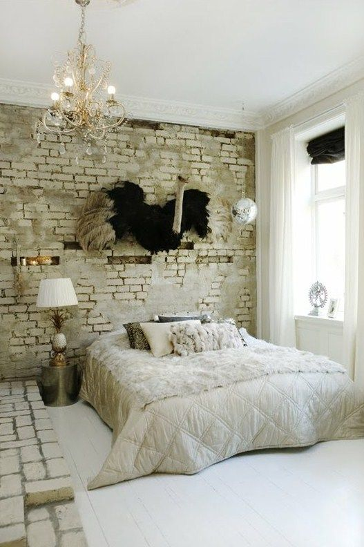 Best Brick Stone Images On Pinterest Brick Walls Exposed - 65 impressive bedrooms with brick walls