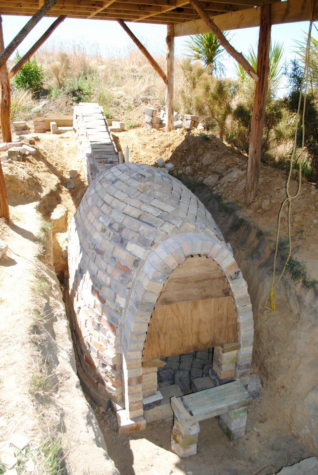 Hooley Thin 39 S Anagama Kiln Under Construction In 2013 Nz